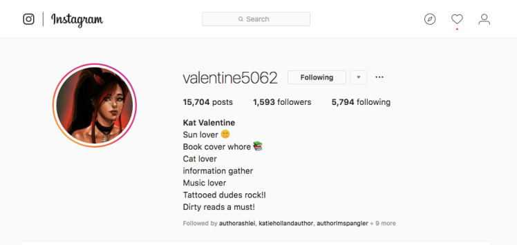 Follow Kat Valentine Instagram!