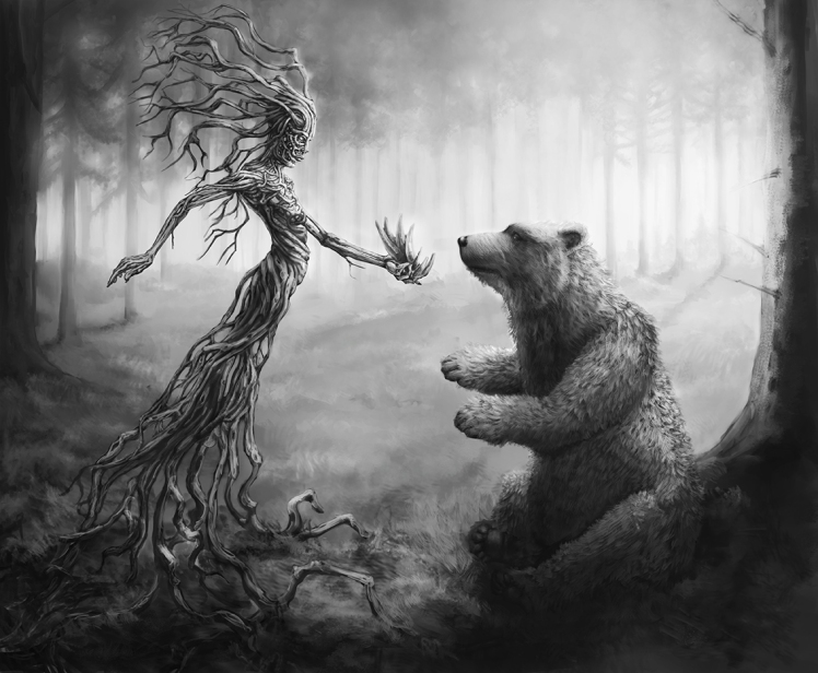 Bear Forest Spirit by Tero Porthan